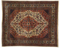 Rugs & Textiles:Carpets, A Persian Rug. Unknown maker, Sarouk, Iran. 20th century. Wool.Marks: none . 6.5 feet wide x 8 feet long. ...