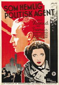 "Movie Posters:War, British Agent (Warner Brothers, 1934). Swedish One Sheet (27.5"" X39.5"")...."