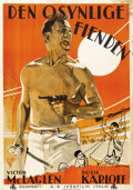 "Movie Posters:War, The Lost Patrol (RKO, 1934). Swedish One Sheet (27.5"" X 39.5""). ..."