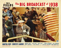 """Movie Posters:Comedy, The Big Broadcast of 1938 (Paramount, 1938). Lobby Card (11"""" X 14""""). ..."""