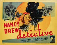 """Nancy Drew -- Detective (Warner Brothers, 1938). Title Lobby Card and Lobby Card (11"""" X 14""""). ... (Total: 2 It..."""