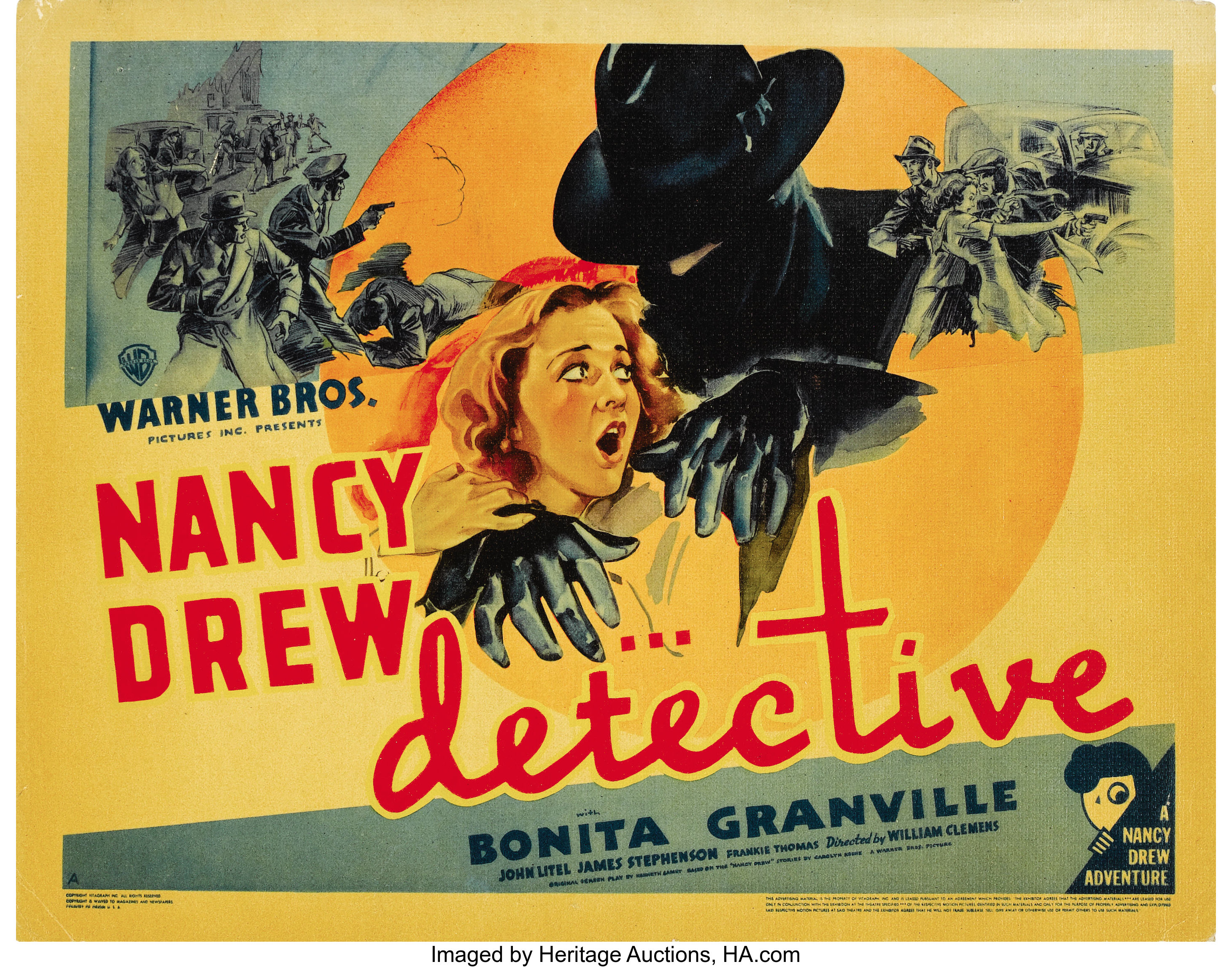 Nancy Drew -- Detective (Warner Brothers, 1938). Title Lobby Card | Lot  #28218 | Heritage Auctions