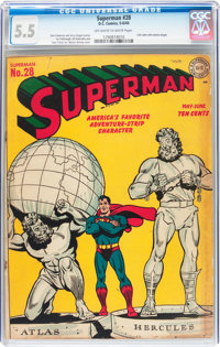 Superman #28 (DC, 1944) CGC FN- 5.5 Off-white to white pages
