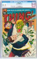 Golden Age (1938-1955):Horror, The Thing! #3 (Charlton, 1952) CGC VF+ 8.5 Off-white to whitepages....