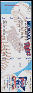 Baseball Collectibles:Tickets, 2000 Cal Ripken Jr. 3000th Hit Full Ticket....