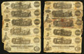 Confederate Notes:1862 Issues, A Large Offering of a Dozen Confederate Train Notes.. ... (Total:12 notes)