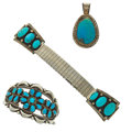 Estate Jewelry:Suites, Turquoise, Sterling Silver, Stainless Steel Suite. ...