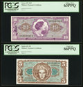 Military Payment Certificates:Series 651, Series 651 $5 and $10 Notes PCGS Graded.. ... (Total: 2 notes)