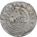 1776 $1 Continental Dollar, CURRENCY, Pewter, EG FECIT, Newman 3-D, W-8460, R.4 -- Repaired -- PCGS Genuine Secure. XF D...