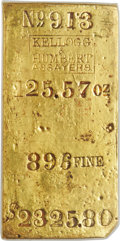 S.S. Central America Gold Bars, Kellogg & Humbert Gold Faceplate. CAGB-684....