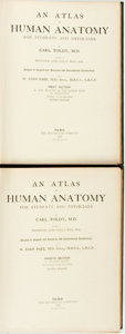 Books:Medicine, [Medicine]. Carl Toldt. An Atlas of Human Anatomy for Studentsand Physicians, Vols. I & II. New York: The Macmi...(Total: 2 Items)