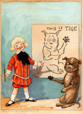 "Original Comic Art:Illustrations, Richard F. Outcault ""This is Tige"" Buster Brown and Tige Illustration Original Art (Kaufman and Strauss, 1904)...."