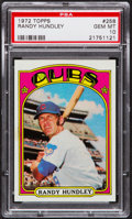 Baseball Cards:Singles (1970-Now), 1972 Topps Randy Hundley #258 PSA Gem Mint 10 - Pop Three. ...