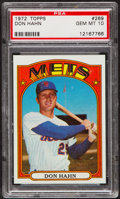 Baseball Cards:Singles (1970-Now), 1972 Topps Don Hahn #269 PSA Gem Mint 10....