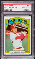 Baseball Cards:Singles (1970-Now), 1972 Topps Dave Concepcion #267 PSA Gem Mint 10....