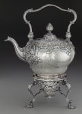 Silver & Vertu:Hollowware, A Benjamin Gignac George II Silver Hot Water Kettle on Stand, London, England, circa 1752-1753. Marks: (lion passant), (leop... (Total: 3 )