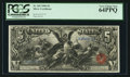 Large Size:Silver Certificates, Fr. 269 $5 1896 Silver Certificate PCGS Very Choice New 64PPQ.. ...