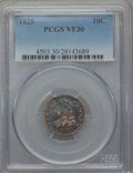 Bust Dimes: , 1825 10C VF30 PCGS. PCGS Population (10/96). NGC Census: (0/73).Mintage: 410,000. Numismedia Wsl. Price for problem free N...