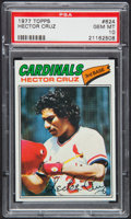 Baseball Cards:Singles (1970-Now), 1977 Topps Hector Cruz #624 PSA Gem Mint 10 - Pop Four....