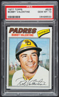 Baseball Cards:Singles (1970-Now), 1977 Topps Bobby Valentine #629 PSA Gem Mint 10 - Pop Two. ...
