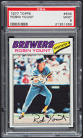 Baseball Cards:Singles (1970-Now), 1977 Topps Robin Yount #635 PSA Mint 9....