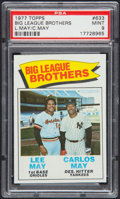 Baseball Cards:Singles (1970-Now), 1977 Topps Big League Brothers #633 PSA Mint 9....