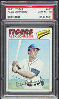 Baseball Cards:Singles (1970-Now), 1977 Topps Alex Johnson #637 PSA Gem Mint 10....