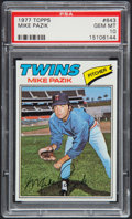 Baseball Cards:Singles (1970-Now), 1977 Topps Mike Pazik #643 PSA Gem Mint 10....