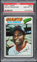 Baseball Cards:Singles (1970-Now), 1977 Topps Willie Crawford #642 PSA Gem Mint 10 - Pop Three. ...