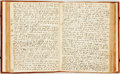 Books:Religion & Theology, Leather-Bound Collection of Manuscript Sermons, Early SeventeenthCentury. England, circa 1624 - 1635. ...
