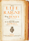 Books:World History, [Henry VIII]. Herbert of Cherbury. The Life and Raigne of KingHenry the Eighth. London: Thomas Whitaker, 1649....