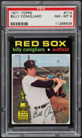 Baseball Cards:Singles (1970-Now), 1971 Topps Billy Conigliaro #114 PSA NM-MT 8....