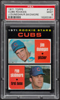 Baseball Cards:Singles (1970-Now), 1971 Topps Cubs Rookies #121 PSA Mint 9....