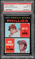 Baseball Cards:Singles (1970-Now), 1971 Topps Phillies Rookies #138 PSA NM-MT 8....