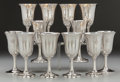 Silver Holloware, American:Water Goblet, A Set of Twelve Wallace Silver Water Goblets, Wallingford,Connecticut, circa 1950. Marks: WALLACE, STERLING, 14. 6-1/2... (Total: 12 Items)