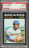 Baseball Cards:Singles (1970-Now), 1971 Topps Al Downing #182 PSA Mint 9....