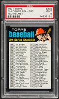 Baseball Cards:Singles (1970-Now), 1971 Topps Checklist 264-393 #206 PSA Mint 9....