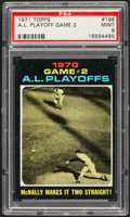 Baseball Cards:Singles (1970-Now), 1971 Topps A.L. Playoff Game 2 #196 PSA Mint 9 - Pop Four, NoneHigher....