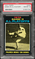 Baseball Cards:Singles (1970-Now), 1971 Topps A.L. Playoff Game 3 #197 PSA NM-MT 8....