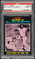 Baseball Cards:Singles (1970-Now), 1971 Topps N.L. Playoff Game 2 #200 PSA Mint 9 - Pop Four, None Higher....