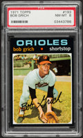 Baseball Cards:Singles (1970-Now), 1971 Topps Bob Grich #193 PSA NM-MT 8....