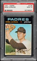 Baseball Cards:Singles (1970-Now), 1971 Topps Mike Corkins #179 PSA Mint 9....