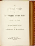 Books:Literature Pre-1900, Sir Walter Scott. The Poetical Works of Sir Walter Scott, Bart.Complete in One Volume. Edinburgh: Adam and Charles ...