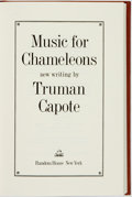 Books:Literature 1900-up, Truman Capote. SIGNED/LIMITED. Music for Chameleons. NewYork: Random House, [1980]....