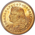 Proof Four Dollar Gold Pieces, 1879 $4 Flowing Hair, Judd-1635, Pollock-1833, R.3, PR65 Cameo PCGS Secure. CAC....