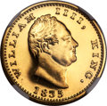 India:British India, India: British India. East India Company - William IV gold Proof Restrike Mohur 1835-(B) PR66 NGC,...