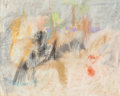 Works on Paper, Adja Yunkers (American, 1900-1983). Untitled, 1957. Pastel on paper. 25-1/2 x 31-1/4 inches (64.8 x 79.4 cm) (sight). Si...