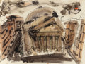 Fine Art - Work on Paper:Watercolor, William Congdon (American, 1912-1998). Roma, 1948.Watercolor and ink on paper. 14-3/4 x 19-3/4 inches (37.5 x 50.2cm) ...