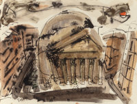 WILLIAM CONGDON (American, 1912-1998) Roma, 1948 Watercolor and ink on paper 14-3/4 x 19-3/4 inch