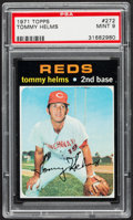 Baseball Cards:Singles (1970-Now), 1971 Topps Tommy Helms #272 PSA Mint 9....